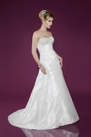 A-Line Reference Images Sweetheart 2014 Charming Elegant A-Line Wedding Dresses Sweetheart Lace-up Sleeveless Sweep Train Ruflfe Beads Crystal Stretch Satin Bridal Gowns