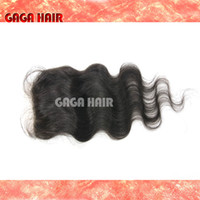 Cheap Brazilian Hair Silk base closure Best Natural Color Body Wave Peruvian Closure