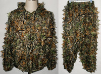 Wholesale REALTREE CAMO HUNTING LEAF NET GHILLIE SUIT JACKET AND TROUSERS