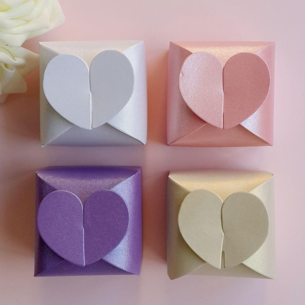 Square Candy Box Heartshaped Wedding Favors Gift Jewelry Boxes