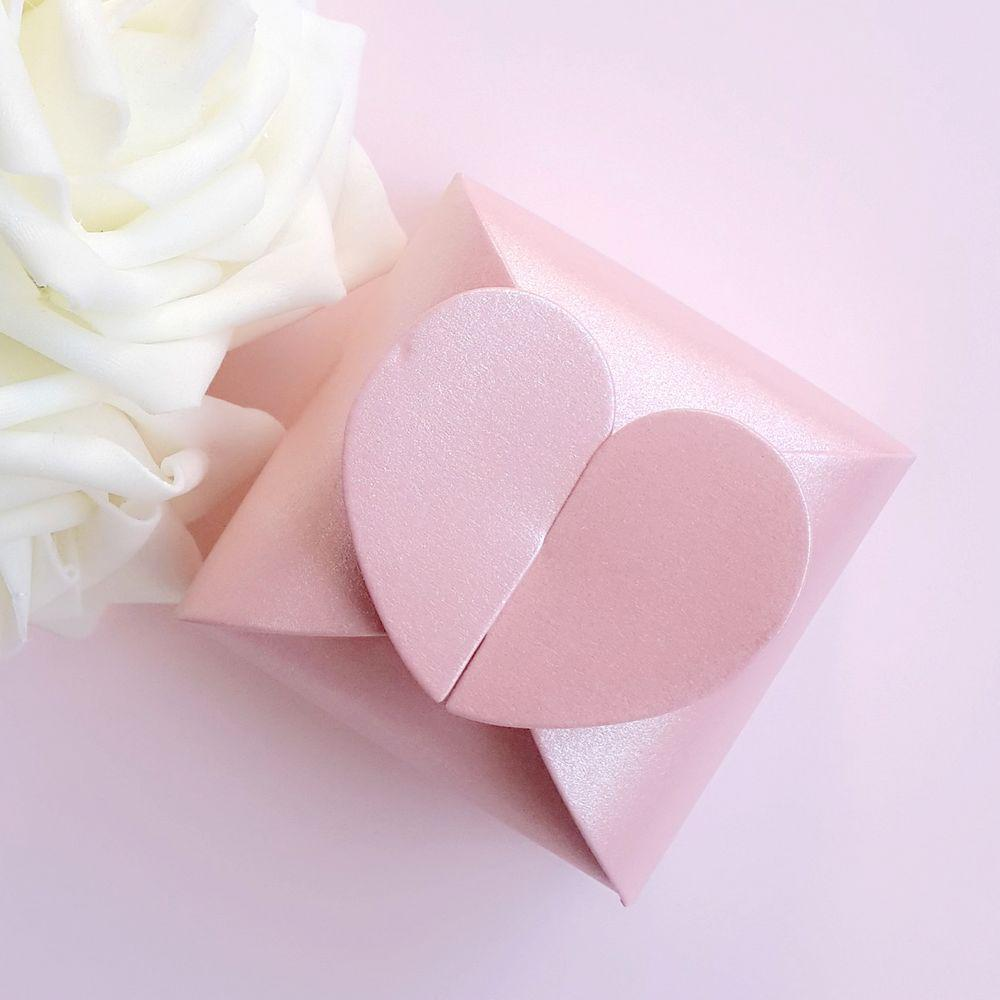 Square Candy Boxes Heart Shaped Wedding Favor Gift Jewelry Box