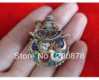 Metal best amulet - TBP260 Nepal brass lovely small snuff bottles Tibetan amulet pendants bottle Tibet crafts best offer
