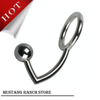 Wholesale Male Chastity Cock Lock Anal Plugs Cock Lock intruder with ball Male metal Anal hook ring Alternative sex toys