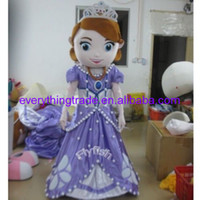 Mascot Costumes Unisex Costum Made Hot Sale Mascot Costume sofia the first princess Mascot Costume Cartoon Fancy Dress NEW
