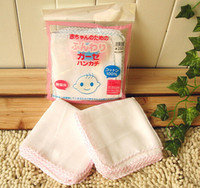 Wholesale 100 cotton gauze nursing towels pure white high density infant bibs without bleaching powder baby bath towel handkerchief baby stay dry