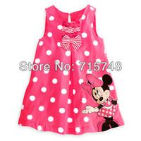 Wholesale Girls dresses Retail Summer new arrival minnie mouse dot bow girl dress children dress kids dress girls clothing