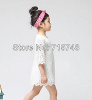 TuTu beautiful dress - Hot sale New Fashion Korean Children Clothing Beautiful White Girls Lace Dress Princess Mini Dresses Kid Baby Clothes