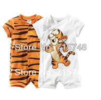 Wholesale Retial Baby romper cotton infant Tigger rompers tiger romper Baby Wear girl s rompers children apparel