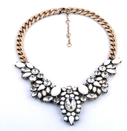 Promotion 2014 Fashion Crystal Collar Statement Necklaces Personalized Vintage Retro Choker Jewelry For Women S97741