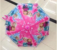 Wholesale Cartoon Umbrella Students Cartoon Princess Elsa Anna Children Umbrella cm Cartoon Series NEW Arrival