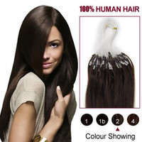 Wholesale Indian Remy Human Hair Micro Loop Hair Extensions Straight Dark Brown S S