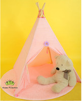 Wholesale Free Shiping Princess Play room Tent Indian Outdoor Indoor Teepee Tent Child Play house Lace Kid Tent