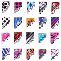 Wholesale Designs Water Slide Nail Wraps Colorful Floral French Tip Nail Decals