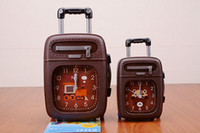 Wholesale 3pcs new small rolling suitcase alarm clock The individuality creative alarm clock Students giftware