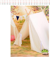 Tents lace tent lace Free Shipping Large Indian Tent Children Play House Teepee Kid Playroom Wigwam birthday gift