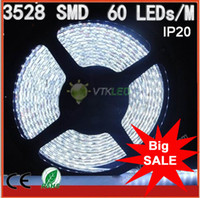 Wholesale Big Promotions led volt led ribbon m roll flexible smd led strip pure white non waterproof strip led w with CE amp RoHS