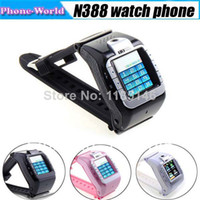 Wholesale N388 Wrist Watch Phone GSM Quad Band Unlcoked Mobile With quot Touch Screen Camera Bluetooth Mp3 FM GPRS