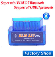 Wholesale Latest Version Super Mini ELM327 Bluetooth OBD2 Scanner Smart Protocols Car Diagnositc Interface V2 Scantool