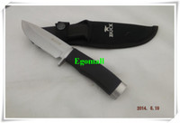 Daggers knives free shipping - OEM BUCK Hunting Knife Camping Knife Survival Knife Silver blade A263