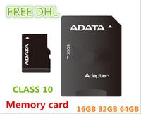 ADATA Micro SD Card Class 10 TF карта памяти 64 ГБ 32 ГБ 16 ГБ флэш-Micro SD SDHC адаптер карты розничного пакета FREE DHL03