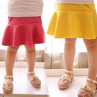 Summer A-Line Knee-Length [ Moe treasure tide ] 14 Korean version of the influx of summer children's clothing brand candy-colored pleated skirts for girls children's