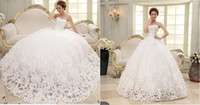 Reference Images beatiful dress - 2015 New Arrivals Fantastic Beatiful Sleeveless Elegant Sweet Princess Appliques Beads Lace up Wrapped Chest Ball Gown Wedding Dresses
