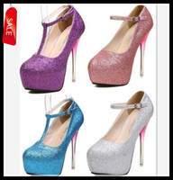 Women Slingbacks Stiletto Heel Hot Helling Sexy New T Strappy Glitter Gradient Heel Shoes Wedding Bride Silver Stiletto Heel Prom Dress Shoes