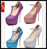 Women Slingbacks Stiletto Heel Lowest Price Sexy New T Strappy Glitter Gradient Heel Shoes Wedding Bride Silver Stiletto Heel Prom Dress Shoes