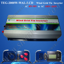 2000W Grid Tie Inverter for Wind Turbine,Wide voltage input Power Inverter,AC 45V~90V Build-in dump load, 2kw wind grid inverter