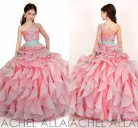 Wholesale New Arrival little Kids Outstanding Beaded Crystal Single Long Sleeve Beauty Pageant Dress Flower Girl Dresses