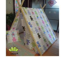 Tents Cotton tent cotton Free Shipping Cotton Teepee Tent Indian Indoor Outdoor Tent Toy Fantasy Girls Decor Playroom Play House Wigwam