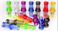 Wholesale e cigarette drip tips mouthpiece colourful transparent drip tips for CE4 CE5 CE6 clearomizer