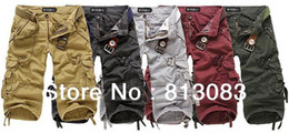Wholesale 2013 NEW MENS CROPPED TROUSERS CASUAL MILITARY ARMY CARGO CAMO COMBAT WORK SHORTS COLORS US SIZE