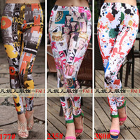 Wholesale 2015 spring New Fashion printing women pants Sexy Women Leggings Patterned Tights Girl Graffiti Leggings Patterned A Variety mix order