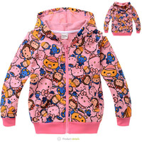 Baby Girls Hoodies Children Cartoon Cat Jacket with hat chil...