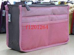 13 Colors Women cosmetic organizer bag multi functional storage handbag Makeup bags case Insert purse