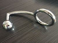 Male anal hook - Alloy single ball anal plug with penis ring for male metal butt plug steel anal hook adult products