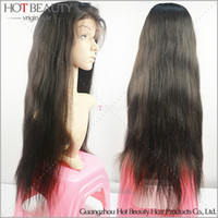 Wholesale Straight Brazilian Virgin Human Hair Glueless Front Lace Wig For Black Women With Baby Hair Density