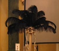Wholesale New Arrive Black Ostrich Feather Pure Black inch cm Eiffel Centerpieces wedding centerpiece Home table centerpiece