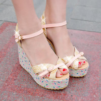 Women Spool Heel PU Plus size34-44 2014 New Summer Fashion Women shoes Sandals Wedges Platforms Flower Glitter Gold Red Buckle Party Princess QL4114