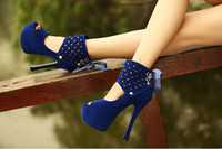 Wholesale New hot sale Stiletto Heels Colors Size Sexy Colorful Ways Peep Toe Platform High Heel Shoes