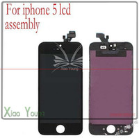 For Apple iPhone   Black and white Glass Touch Screen Digitizer & LCD Assembly Replacement For iPhone 5 5S
