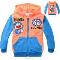 Baby Girls Hoodies Children Doraemon Jacket with hat childre...