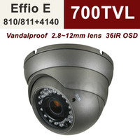 Wholesale Uinvision home and business security Inch Sony exview CCD effio e TVL mm vari focal lens IR Led vandalproof dome camera