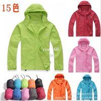 Wholesale Arrive New XS XXXL Women Men Ultra Light Outdoor Sport Waterproof Jacket Quick Dry Clothes Skinsuit Plus Size Dust Coat