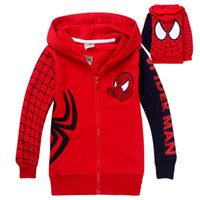 Baby Girls Hoodies Children Spider- man Jacket with hat child...