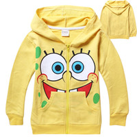 Baby Girls Hoodies Children SpongBob Jacket with hat childre...