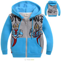 Baby Girls Hoodies Children Super man Jacket with hat childr...
