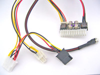 Wholesale Free Tracked Shipping V DC mini PC ATX Pin switch power supply Car Auto Mirco Pico ATOM HTPC U rackmount ITX PC ATX PSU Supplie W