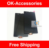 Wholesale OEM LCD Display Touch Screen Digitizer Assembly For Sony Xperia Z L36h L36i Black Color PC